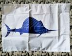 Sailfish catpure flag  Size : Height: 31cm/12in x Width: 44cm/17in