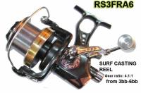 Osprey Surf casting reels with front and rear drag. Surf casting reels with Stainlless bb