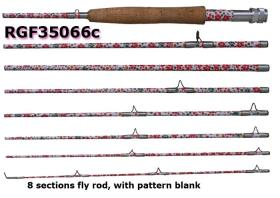 8 sections Osprey high carbon fly rods . Fly rods with pattern blank. Fly rods from #3~#12