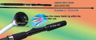 Sabiki rods to prevent the sabiki rig from entanglement. Sabiki rod special design to keep the sabiki in place after use.